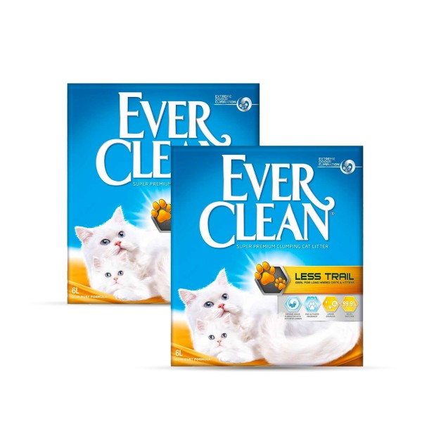 Ever Clean 2'li Less Trail Kedi Kumu Paketi- 2 Adet x 6 Lt.