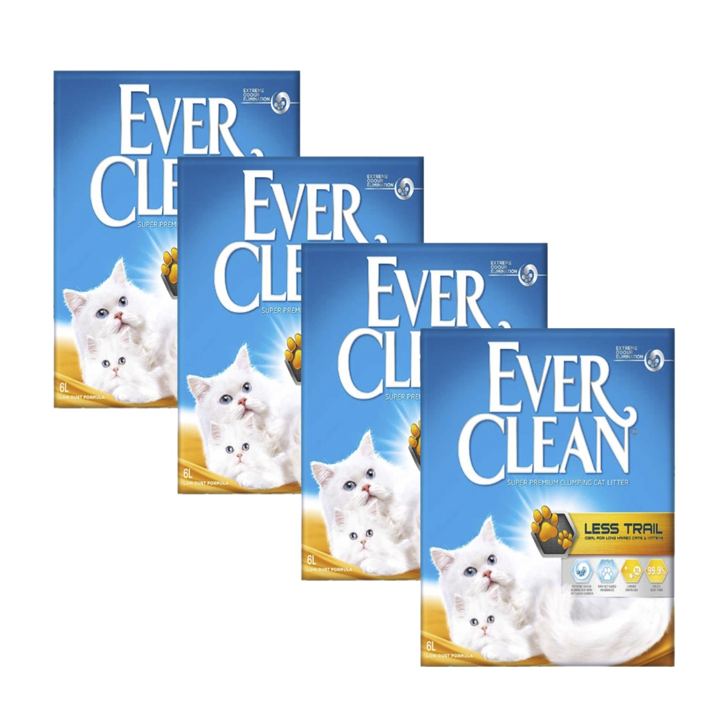 Ever Clean 4'lü Less Trail Kedi Kumu Paketi - 4 Adet x 6 Lt.